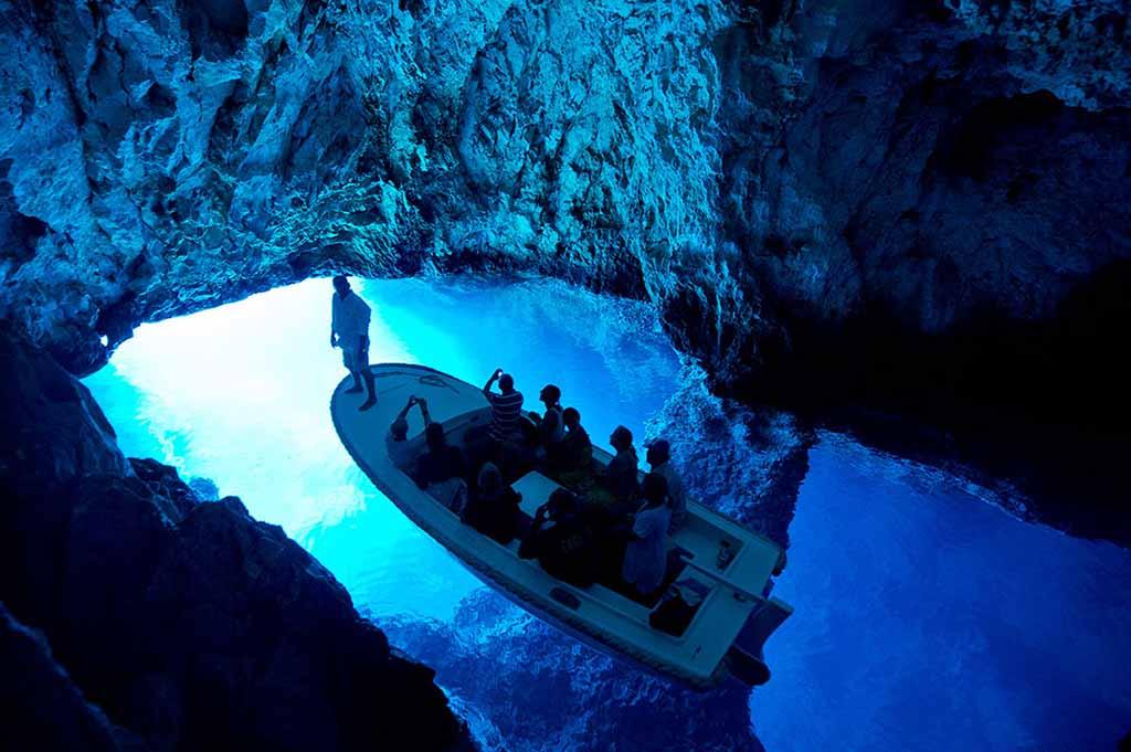 blue cave adriatic pearl