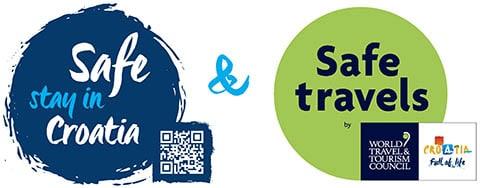 Safe stay in Croatia+WTTC Safe travels_stamp_blue_QR
